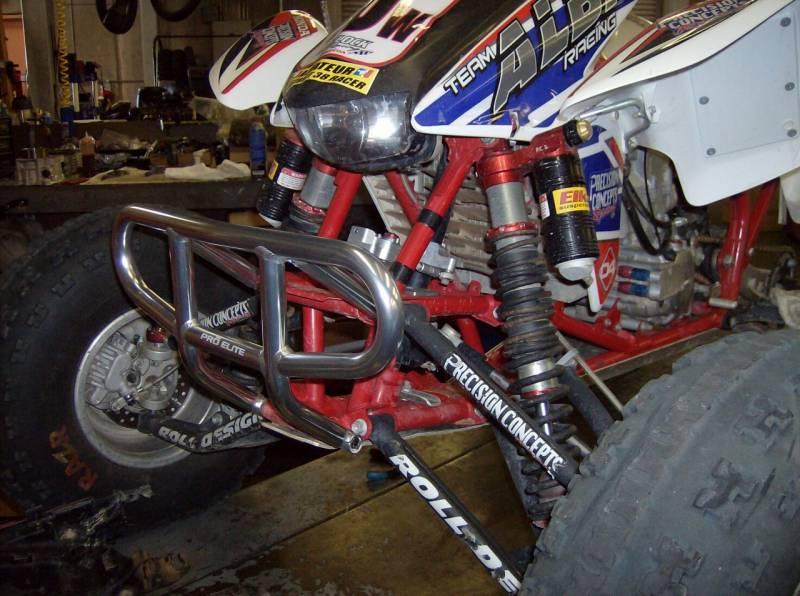 Honda Trx 400ex    Trx 450r Traditional Front Bumper  Black