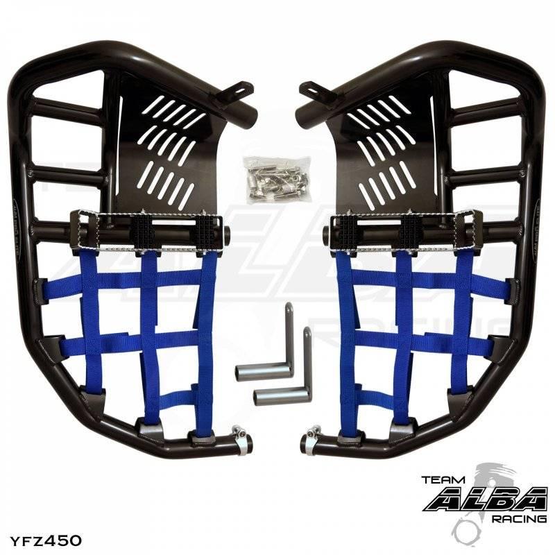 Kawasaki KFX 700 KFX700  Nerf Bars  Pro Peg  Alba Racing  Black Blue  200 T7 BL