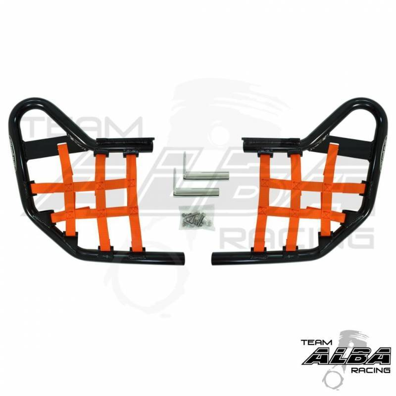 Nerf Bars w//Nets guards rack Compatible with 2001-2014 HONDA TRX 250EX Models