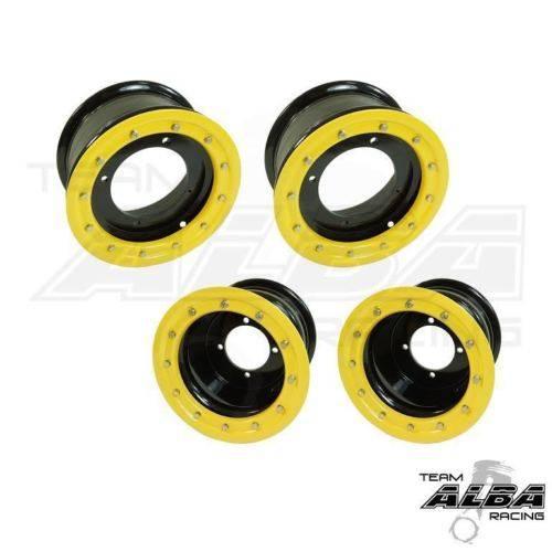 Banshee 350 Warrior  Rear Wheels  Beadlock  8x8  3+5  4//115  Alba Racing  Blk//y