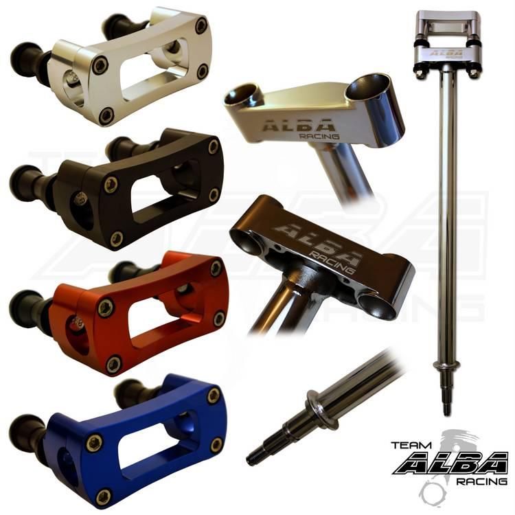 "2/""  Chromoly Black 7//8 Bar Clamp  Silver  728 S TRX 450R 700XX  Steering Stem"