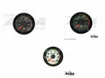 Alba Racing Weatherproof Oil PSI Gauge