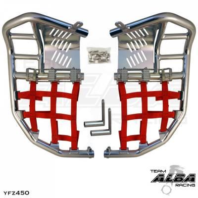 Honda TRX250R TRX 250R 250 R Nerfbars Atv Nerf Bars 86-89 Silver Bars//Blue Nets