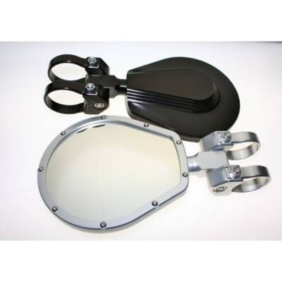 "Axia Alloys 6"" Flat Glass Folding Side Mirrors - Image 1"