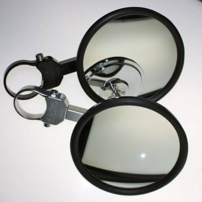 "Axia Alloys 5"" Side Mirrors (Flat or Convex)(Black or Silver)"