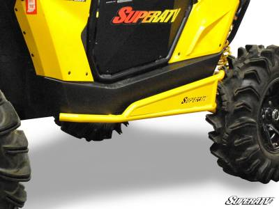 CanAm Maverick Rock Sliders Yellow