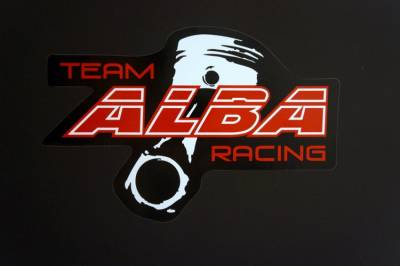 "Alba Racing decal 9"" x 6"" Bk / Red - Image 1"