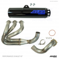 Alba Racing Yamaha YXZ1000r / YXZ1000SS Full Exhaust System with Blue Sticker