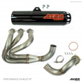 Alba Racing Yamaha YXZ1000r / YXZ1000SS Full Exhaust System with Orange Sticker