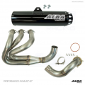 Alba Racing Yamaha YXZ1000r / YXZ1000SS Full Exhaust System White Sticker