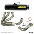 Alba Racing Yamaha YXZ1000r / YXZ1000SS Full Exhaust System with Yellow Sticker