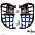 Raptor 660 Nerf Bars Black with Blue Nets