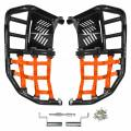 Raptor 660 Nerf Bars Black with Orange Nets