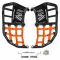 Kawasaki KFX700 ProPeg Nerf Bars Black with Orange Nets