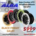 Maverick 1000 - Wheels - Alba Racing Baja Crusher Billet Beadlock Wheels Black Friday Super Sale!!!