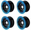 Billet UTV Bead-Lock Wheels in Blue