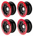 Billet UTV Bead-Lock Wheels in Red